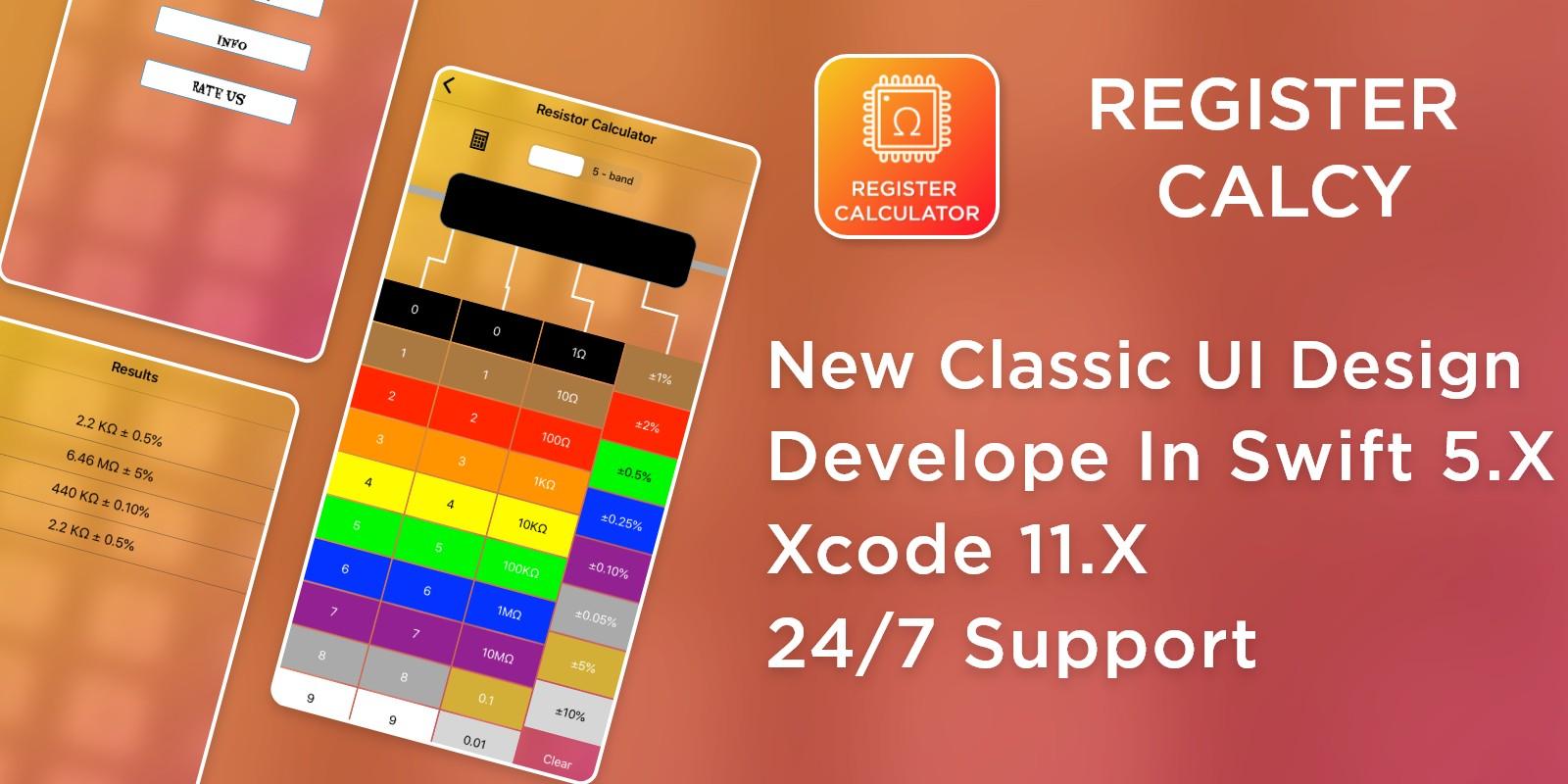 Resistor Calculator - iOS Source Code