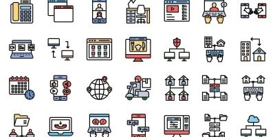 Telecommunication Vector icons