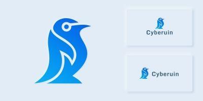 Cyber Penguin Logo Template