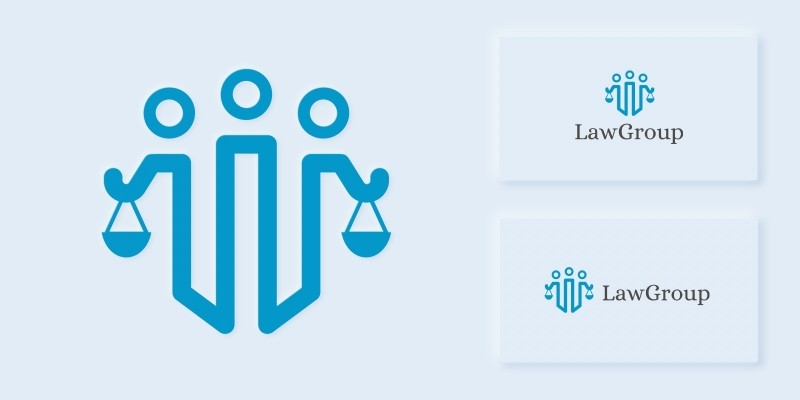 Law Group Logo Template