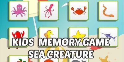 Kids Memory Game - Sea Creatures Unity Project