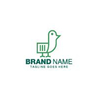 Paper Bird Logo Template
