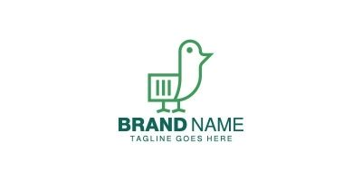 Paper Bird Logo Template