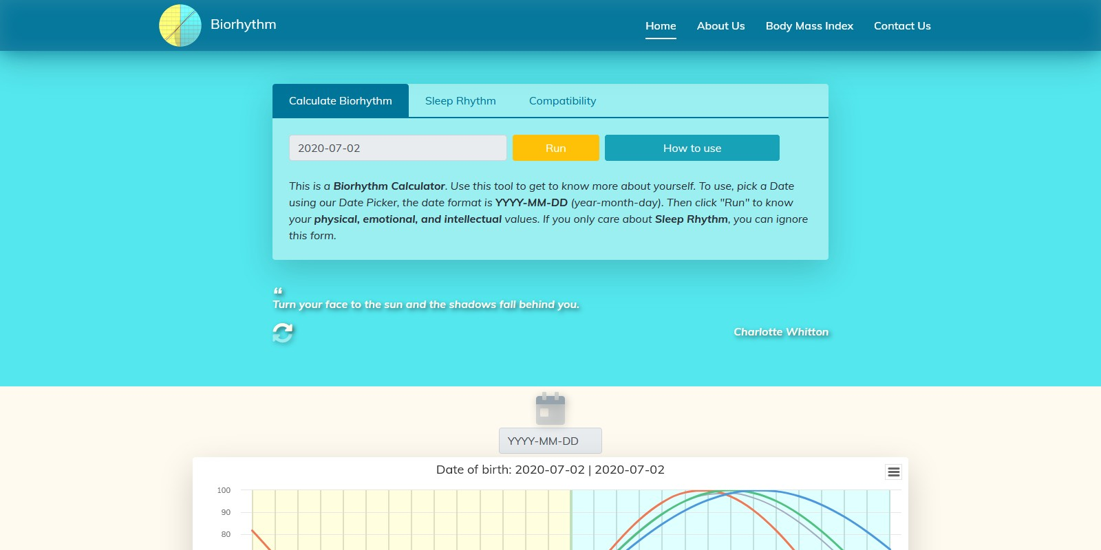 Yet Another Biorhythm Calculator PHP