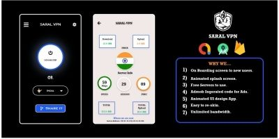 Saral VPN - Android VPN App Source Code