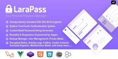 LaraPass v1 - Your Personal Password Manager