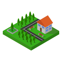 Isometric House In Vector