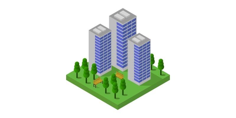 Isometric Skyscraper In Vector
