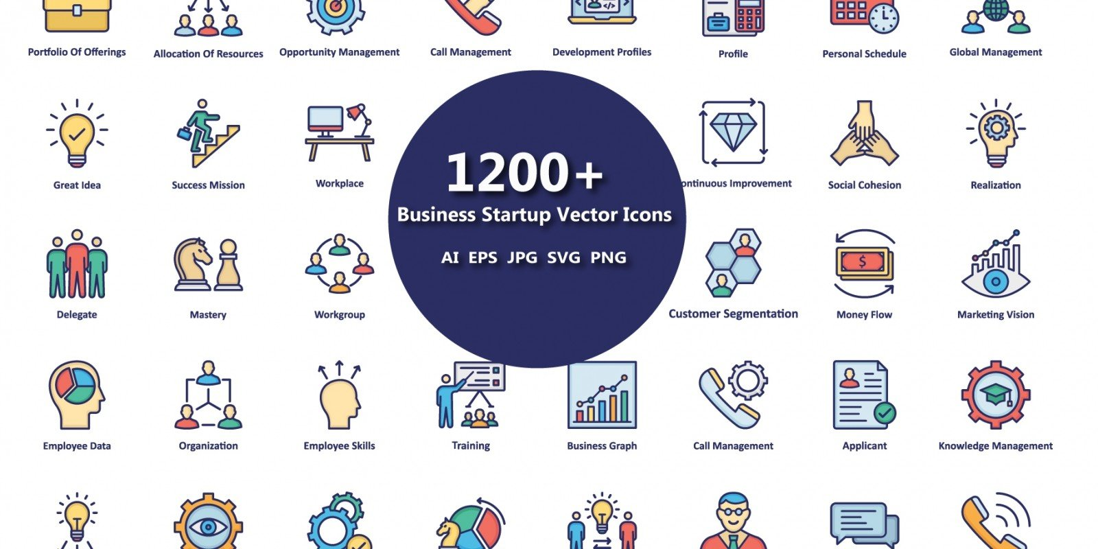 1200 Business Startup Vector icons