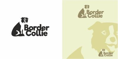 Dog Border Collie Logo