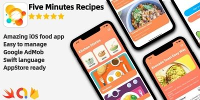Five Minutes Recipes - iOS Source Code