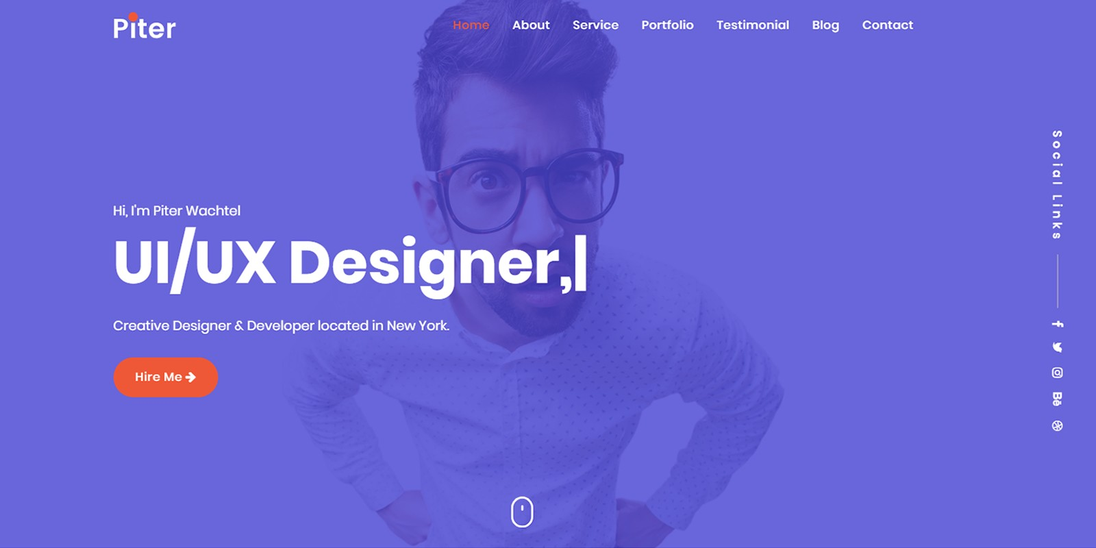 One Page HTML 5 Progressive Webview Theme