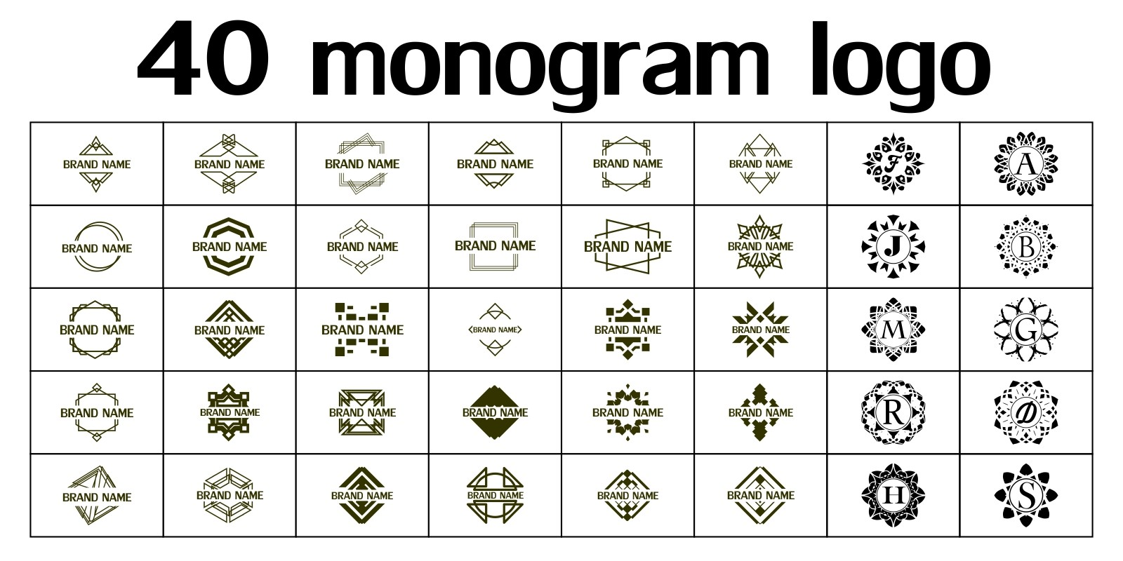 40 Monogram Logo Templates
