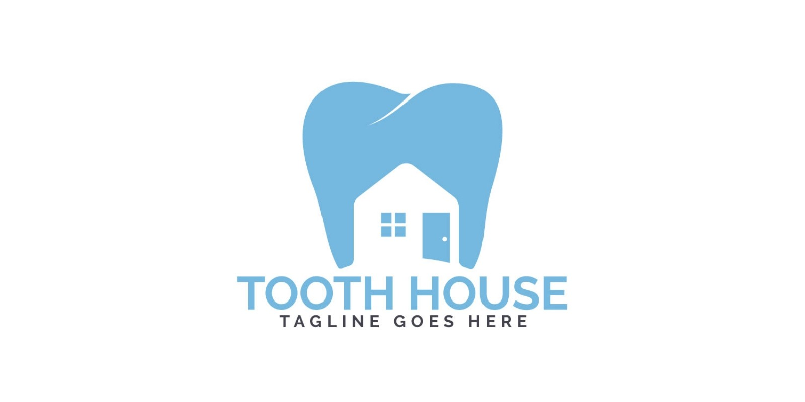 Tooth House Logo Design