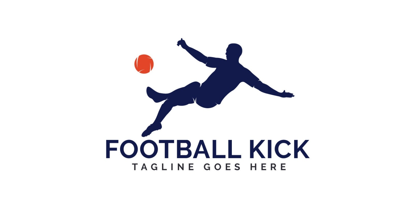 Football Kick Logo Design