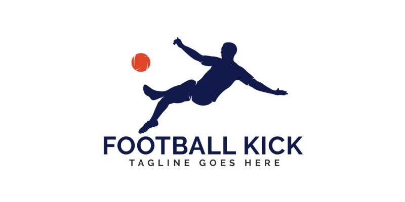 Football Kick Logo Design