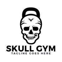 Skull Gym Logo Design