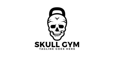 Skull Gym Logo Design