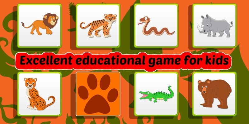 Kids Memory Games - Wild Animals Unity Project