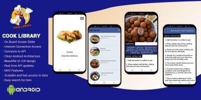 Cook Library Food App - Android  Source Code