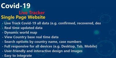 Covid-19 Live Tracker PHP Script