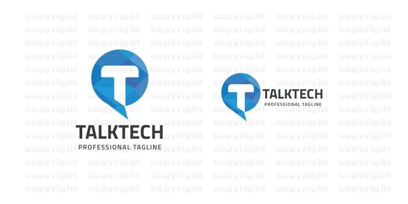 Talk Tech Letter T Logo