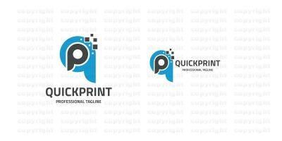 Quick Print Letter QP Logo