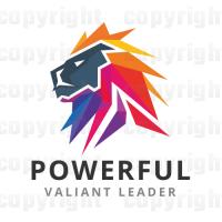 Powerful Lion Logo