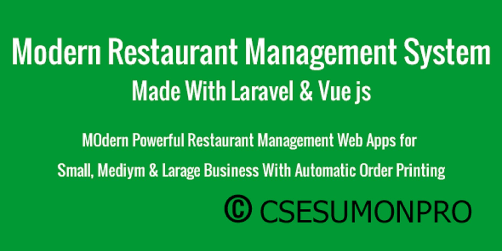 Modern Restaurant Management System