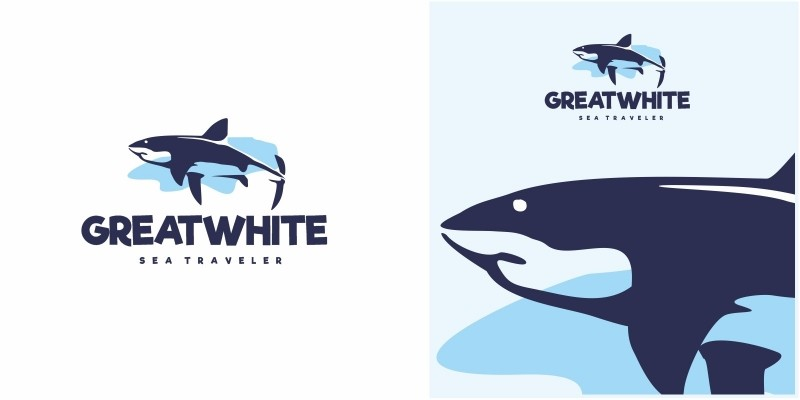 Shark Great White Logo