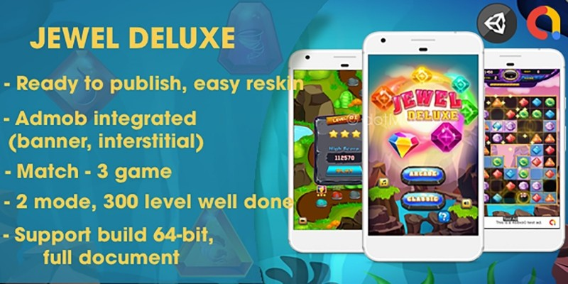 Jewel Deluxe - Unity Complete Project