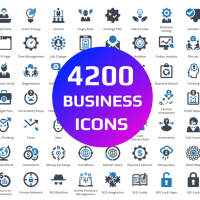 4200 Seo Business Icons