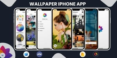 Wallpaper iPhone App with Admin Panel