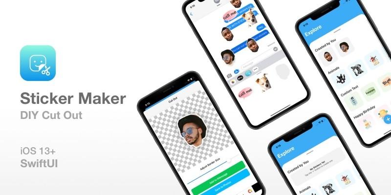 Sticker Maker DIY Cut Out - iOS Source Code