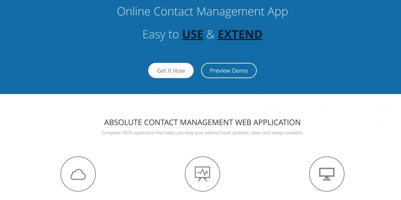 LaraContact – Online Contact Management App