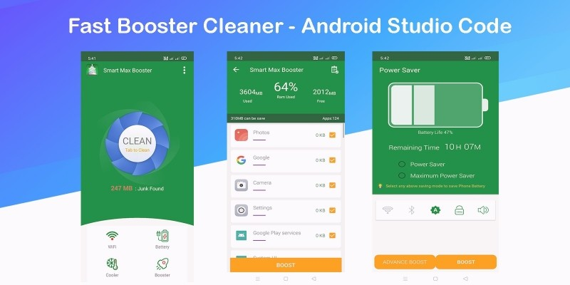 Fast Booster Cleaner - Android Studio Code