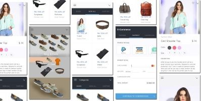 E-Commerce App Design UI Kit Android Source