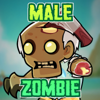 Male Zombie 2D Game Character Sprites 03