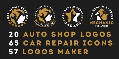 Car Repairing Logos Collection