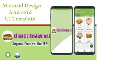 Atlantic Restaurant Android UI Template
