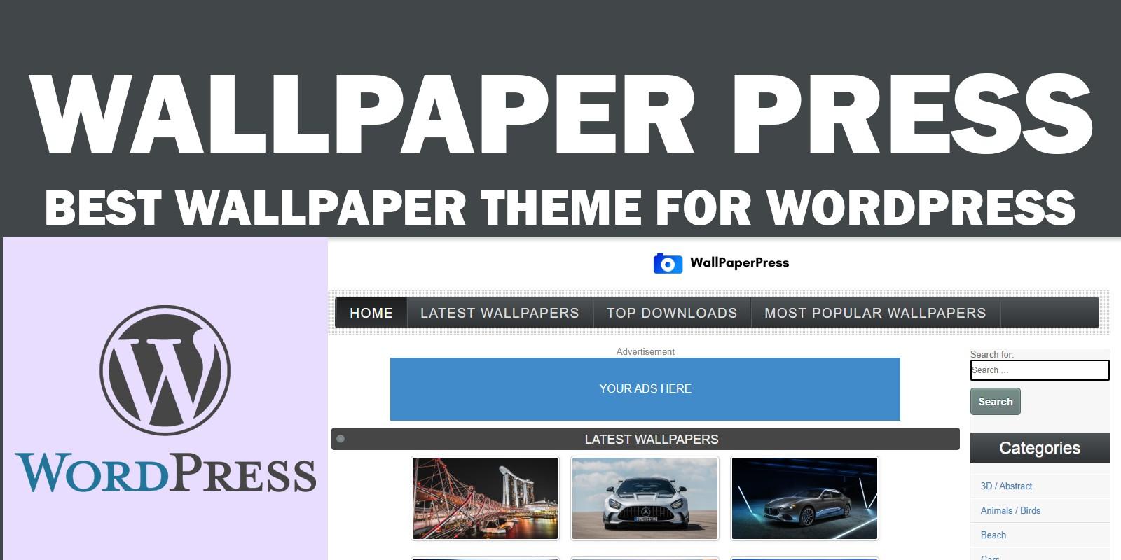 WallpaperPress - Wallpaper theme for WordPress