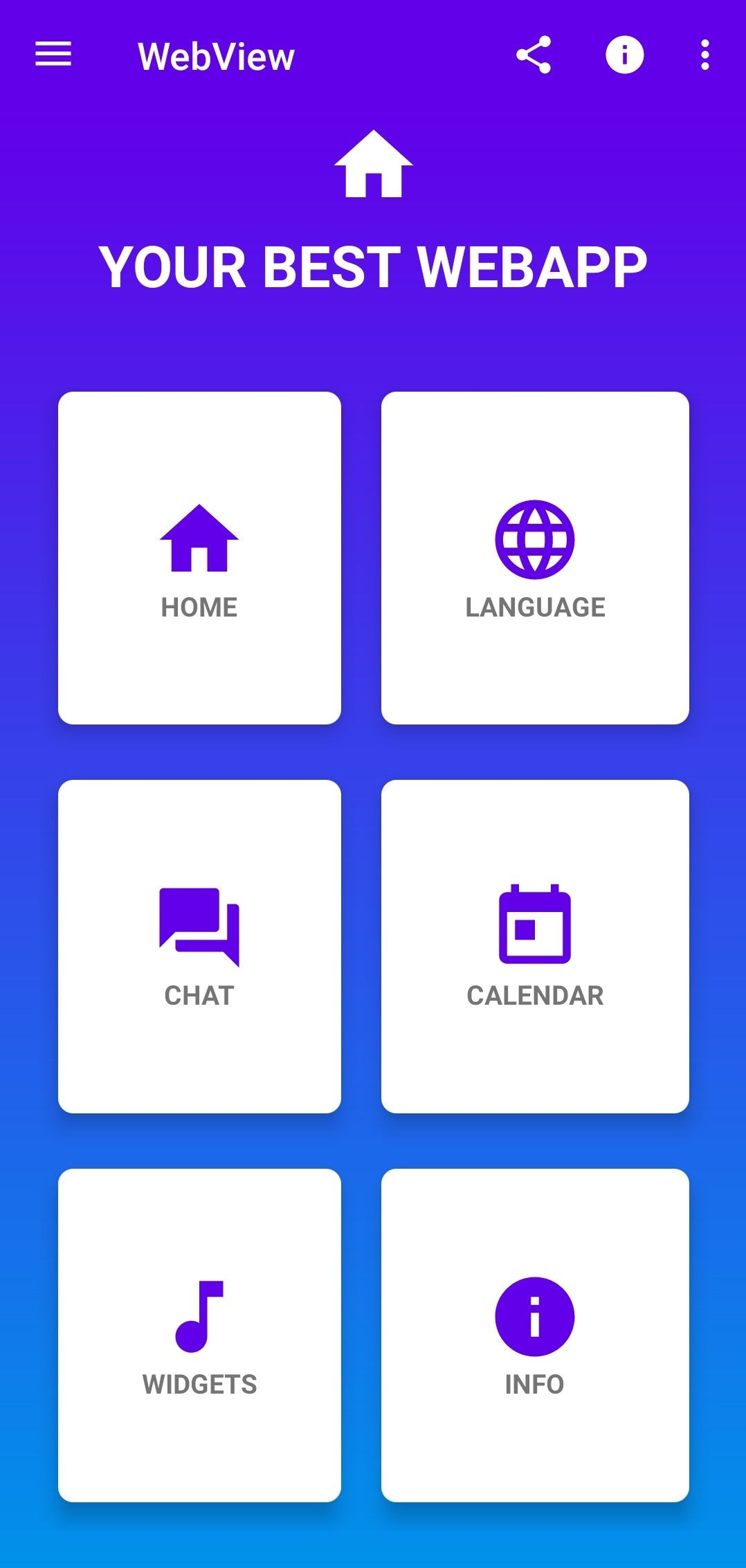 webview web app  android source codealtplay  codester