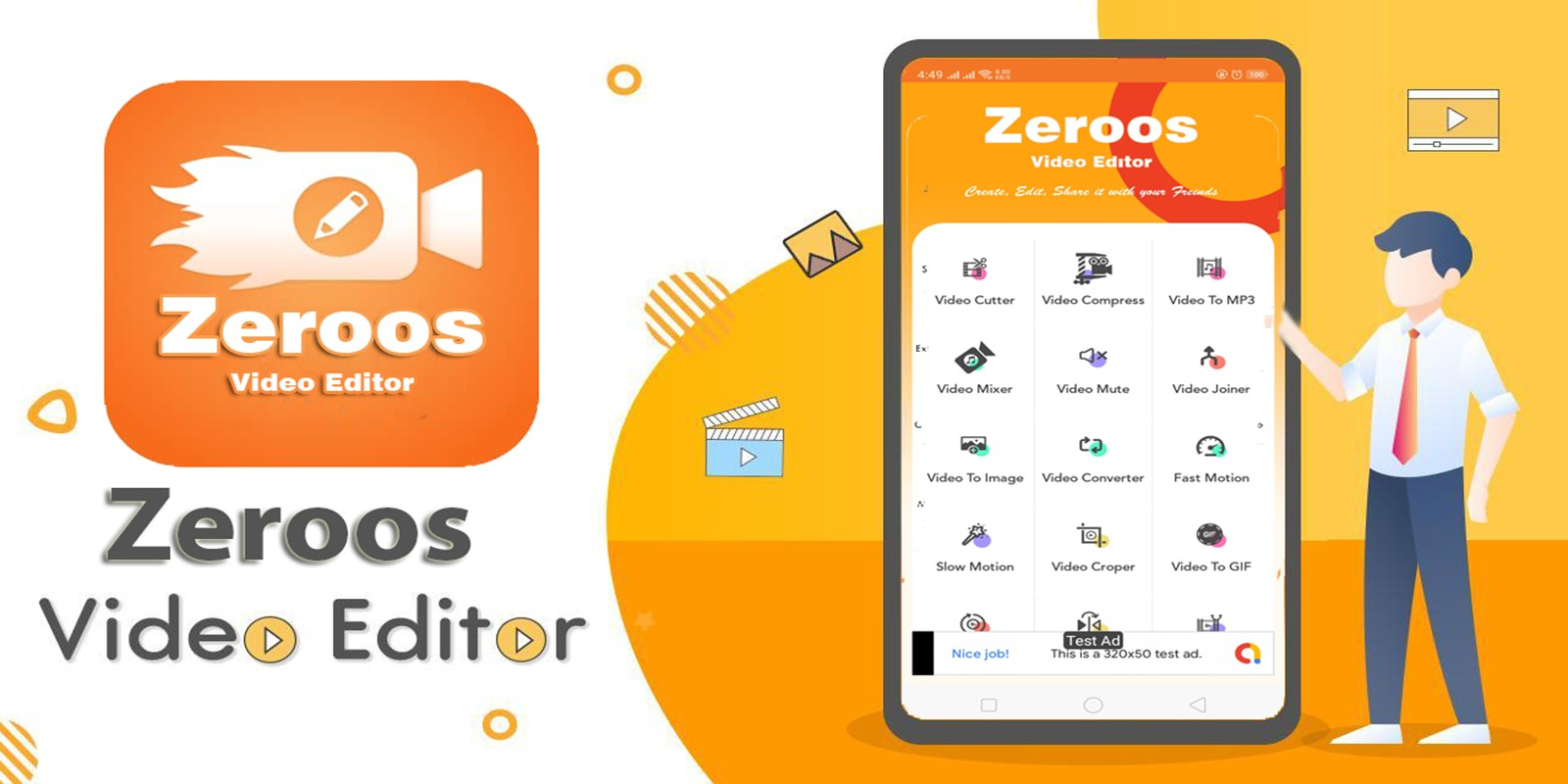 Zeroos - All in one Video Editor For Android