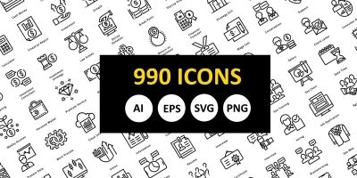 990 Outline Icons