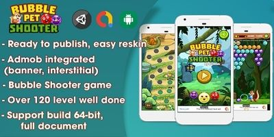 Bubble Shooter Pet - Unity Complete Project