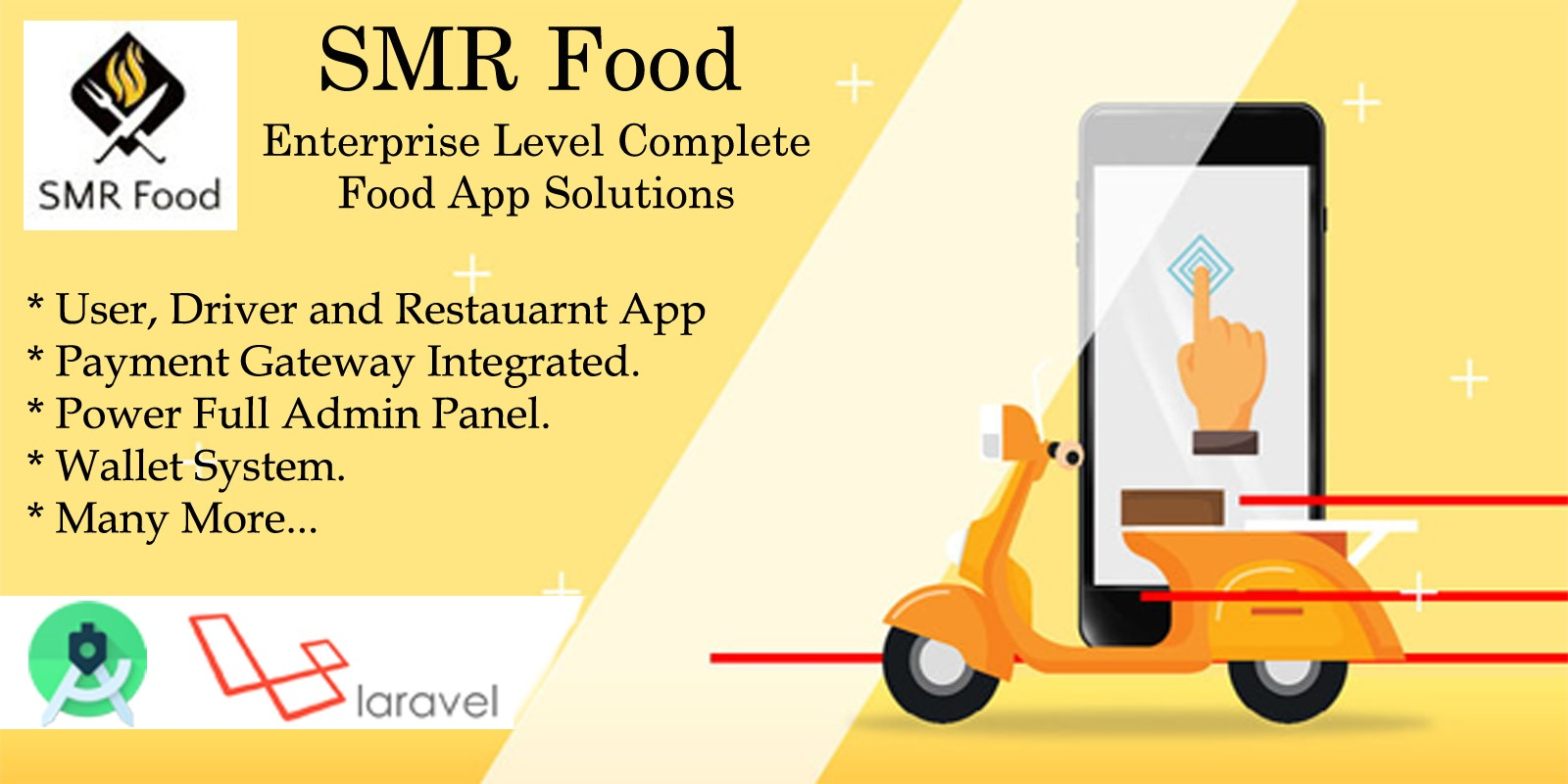SMR Food - Food Delivery Android App
