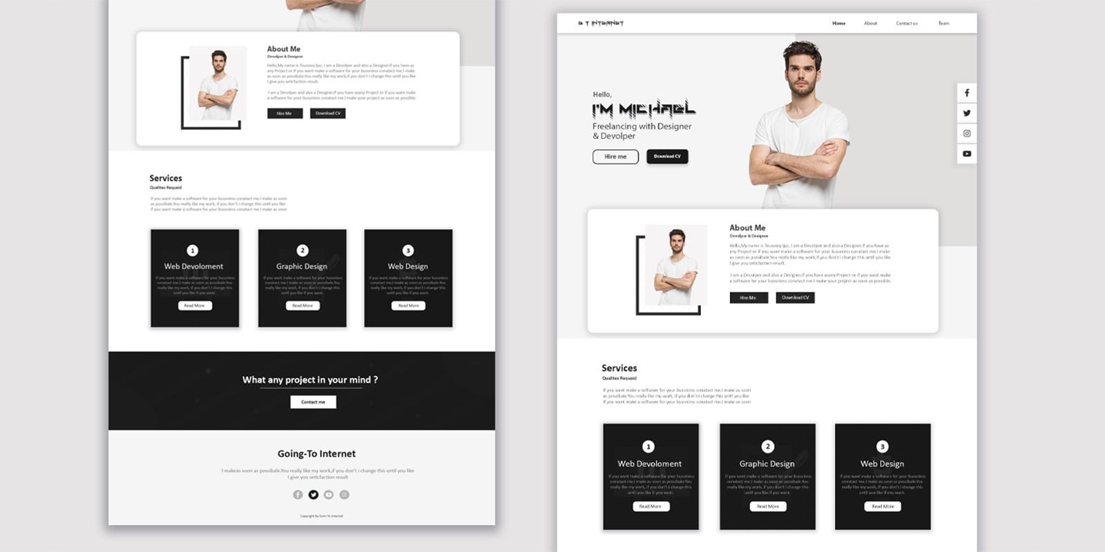 Responsive Personal Portfolio Website Using HTML