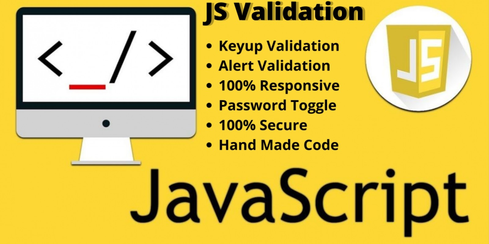 Javascript Keyup With Alert Box Validation Form