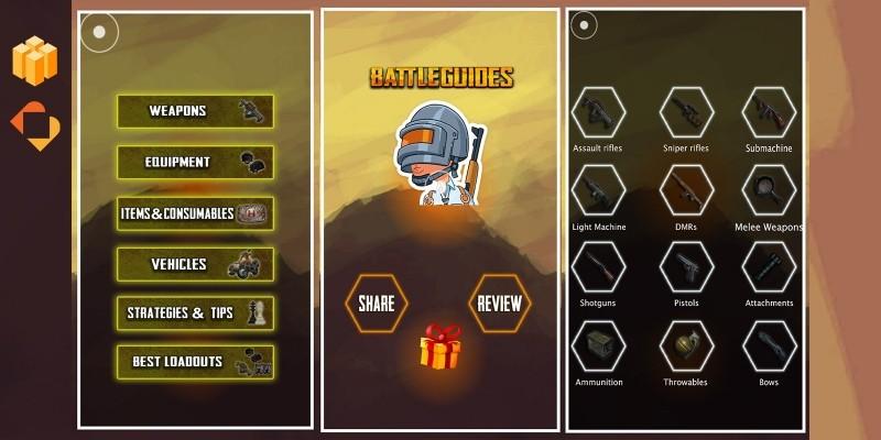 PUBG Game Guide - Buildbox Template