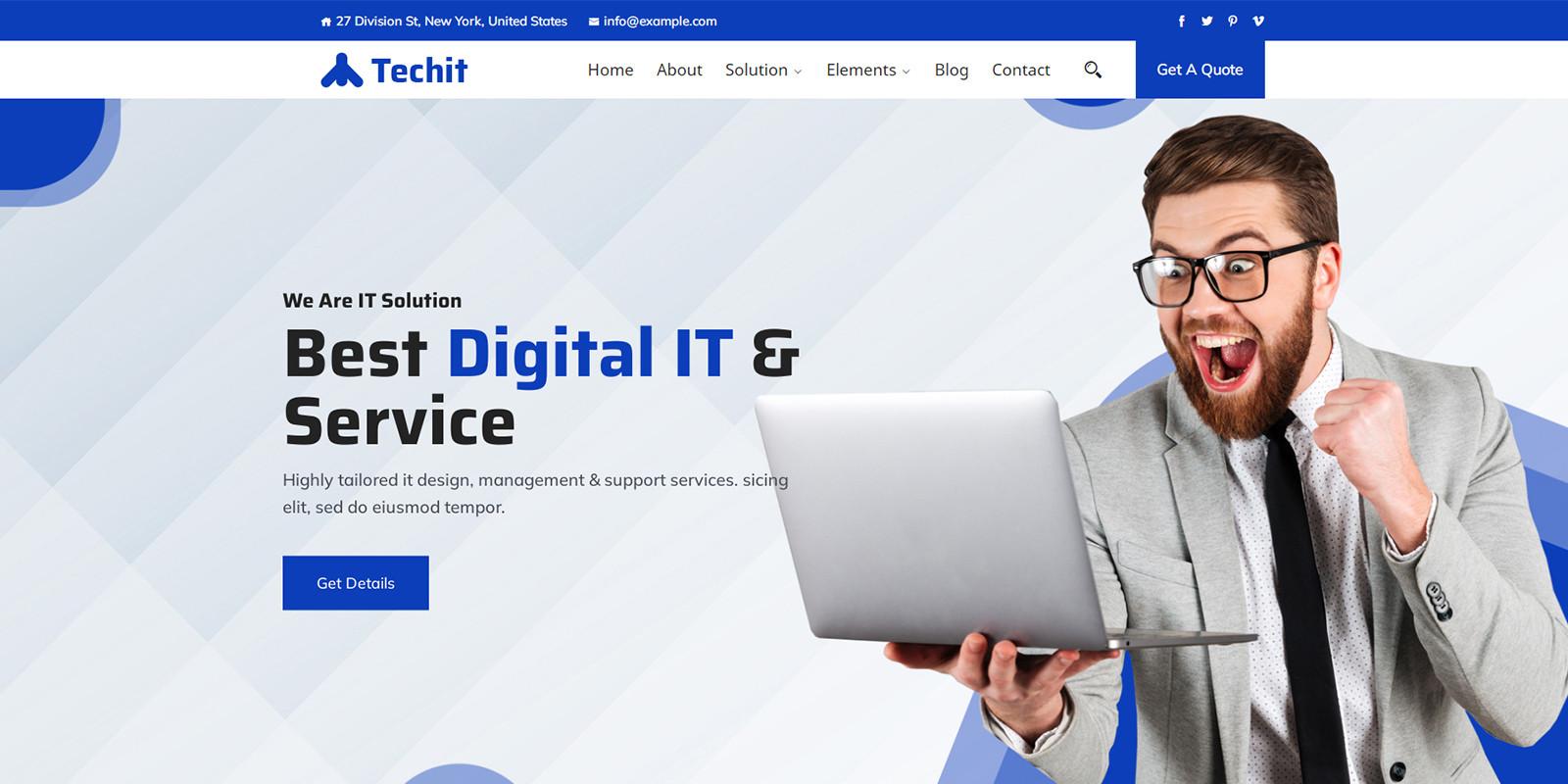 Techit - IT Consultant WordPress Theme